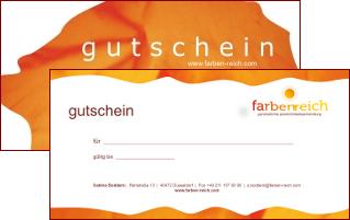 Gutschein für Farb- und Stilberatung / Vorderseite
